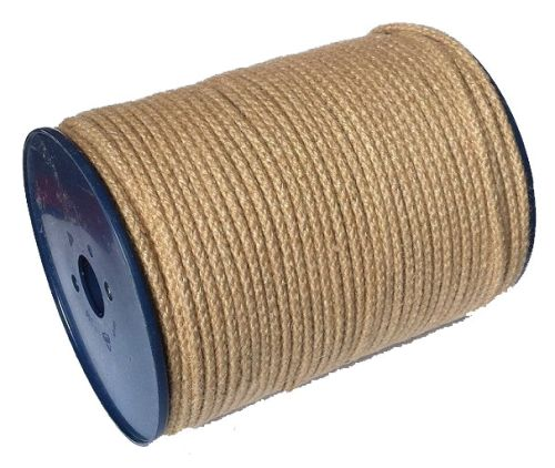 6mm Braided Jute Cord - 200m
