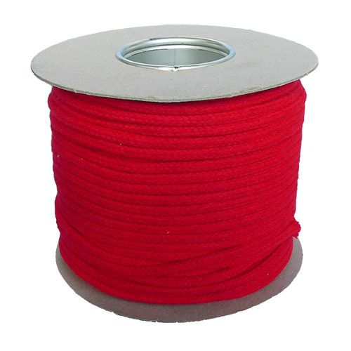 6mm Red Magician's Cord - 100m reel