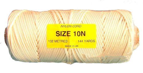 10N (3.6mm) White Nylon Cord - 132m