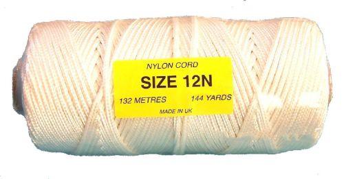 12N (4mm) White Nylon Cord - 132m