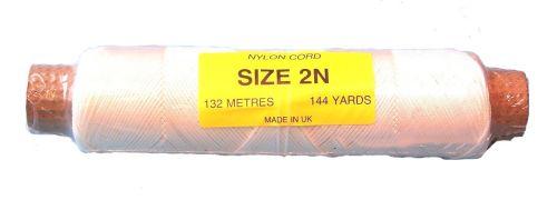 2N (1.5mm) White Nylon Cord - 132m
