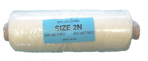 2N (1.5mm) White Nylon Cord - 500m