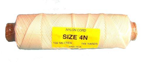 4N (2.4mm) White Nylon Cord - 132m