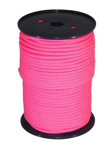 6mm Pink Braided Rope sold on a 100m reel