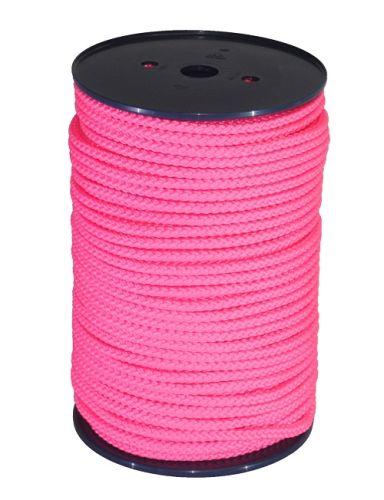 8mm Pink Braided Rope - 100m reel