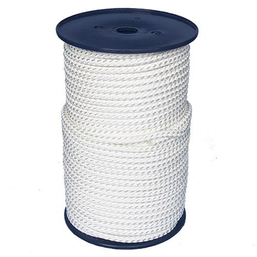 8mm White Cord with Reflective Strip - sold by the metre