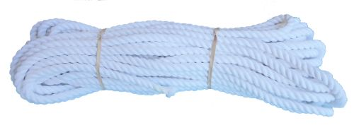 12mm Optic White Dyed Cotton Rope - 24m coil