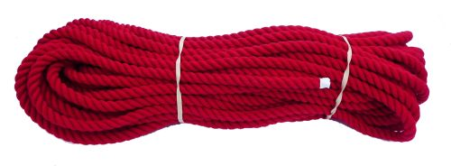 8mm Red Dyed Cotton Rope - 24m coil