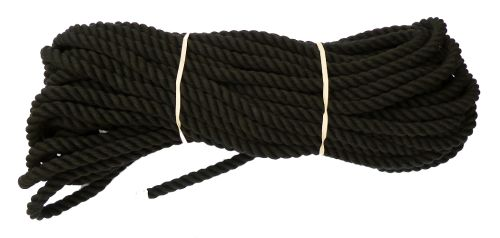 12mm Black Dyed Cotton Rope - 24m coil
