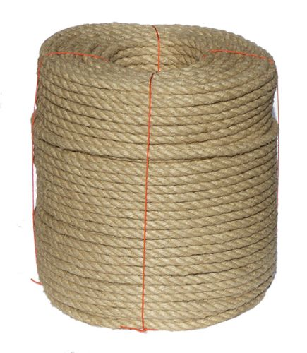 14mm Natural Flax Hemp Rope sold on a 220m coil