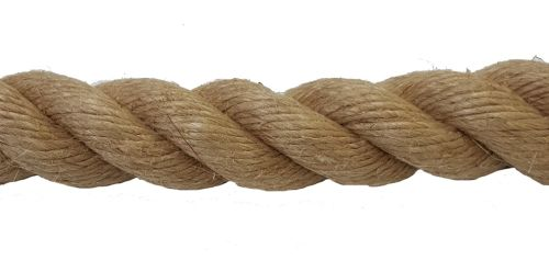 24mm Natural Flax Hemp Rope sold by the metre