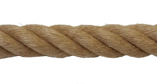 28mm Natural Flax Hemp Rope sold by the metre