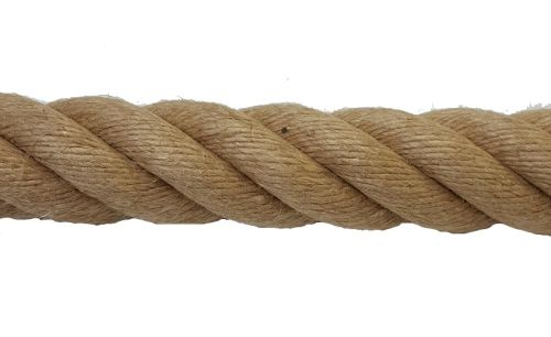 36mm Natural Flax Hemp Rope sold by the metre