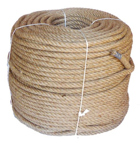 12mm 4-strand Jute/pp rope - 220m coil