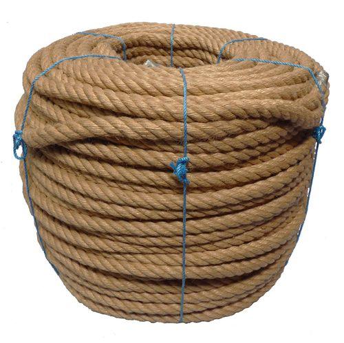 30mm 4-strand Jute/pp rope - 120m coil
