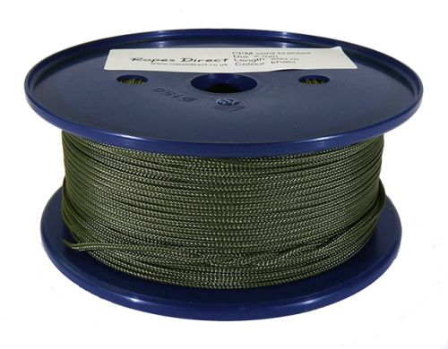 2mm Khaki Green Polypropylene Multicord - 200m Reel