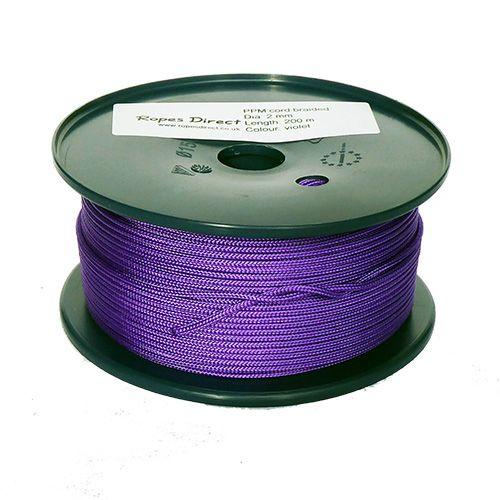 2mm Purple Polypropylene Multicord - 200m reel