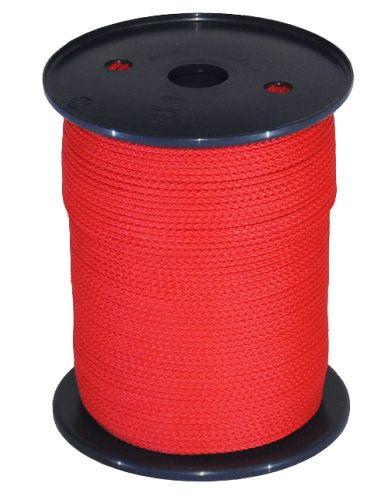 3mm Red Polypropylene Multicord - 200m Reel