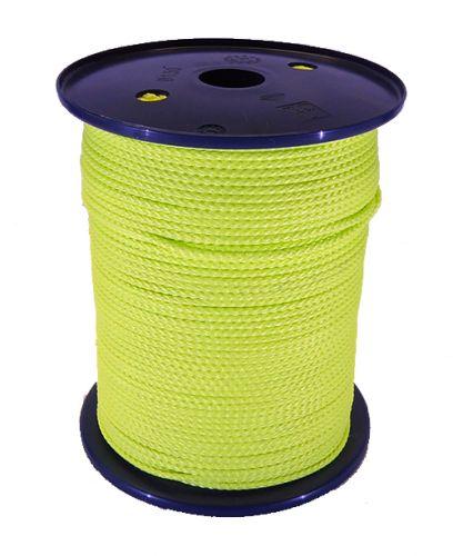 3mm Fluoro Yellow Polypropylene Multicord - 200m reel