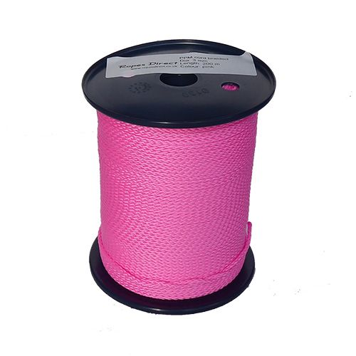3mm Pink Polypropylene Multicord - 200m reel