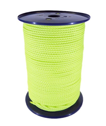 4mm Fluoro Yellow Polypropylene MultiCord - 200m reel