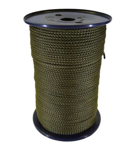 4mm Khaki Green Polypropylene Cord - 200m reel