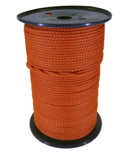 4mm Orange Polypropylene MultiCord - 200m reel