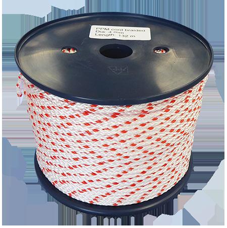4mm White/Orange Polypropylene MultiCord - 132m Reel