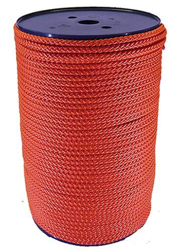 6mm Orange Polypropylene Multicord - 100m reel