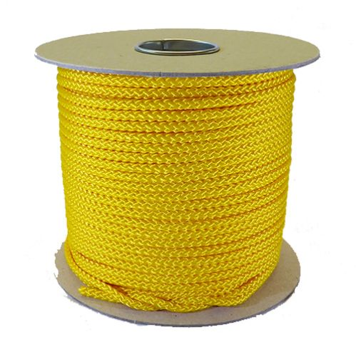 6mm Yellow Polypropylene MultiCord - 100m Reel