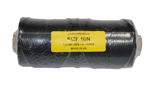 10N (3.6mm) Black Nylon Cord - 132m
