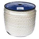 14mm 8 strand white nylon rope - 100m reel
