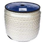 10mm 8 strand white Nylon Rope - 100m reel