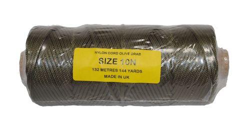 10N Olive Green Nylon Cord - 132m