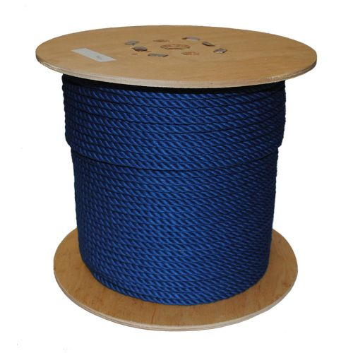6mm Blue PolyCotton Rope sold on a 220m reel