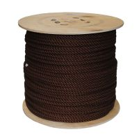 6mm Brown PolyCotton Rope sold on a 220m reel