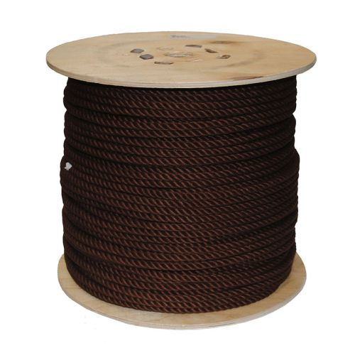 8mm Brown PolyCotton Rope sold on a 220m reel