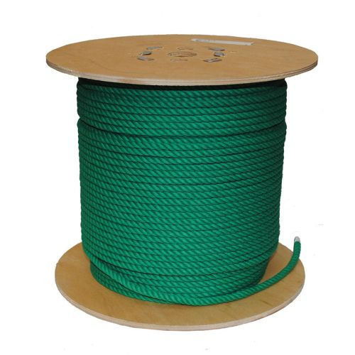 8mm Green PolyCotton Rope sold on a 220m reel