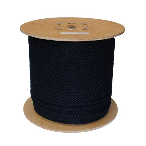 8mm Navy Blue PolyCotton Rope sold on a 220m reel