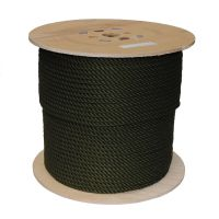 8mm Olive PolyCotton Rope sold on a 220m reel