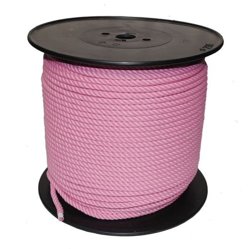 8mm Pink PolyCotton Rope sold on a 220m reel