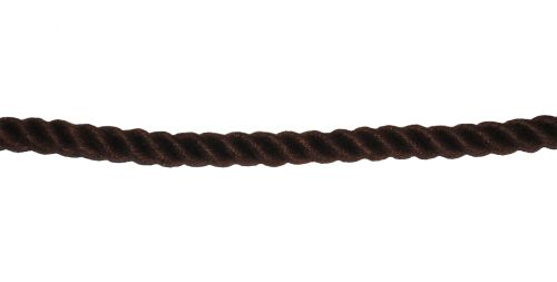 8mm Brown PolyCotton Rope sold by the metre