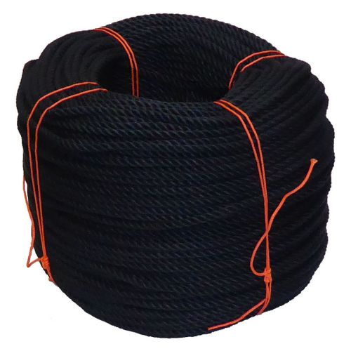 6mm Black PolyCotton Rope - 220m coil