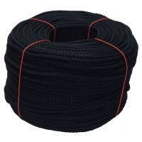 8mm Black PolyCotton Rope - 220m coil