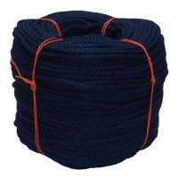 6mm Navy Blue PolyCotton Rope - 220m coil