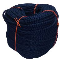 8mm Navy Blue PolyCotton Rope - 220m coil