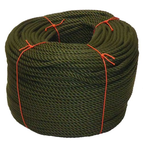8mm Olive Green PolyCotton Rope - 220m coil