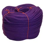 8mm Purple PolyCotton Rope - 220m coil