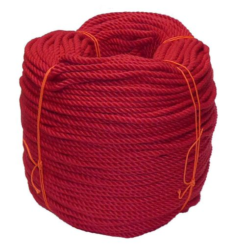 6mm Red PolyCotton Rope - 220m coil