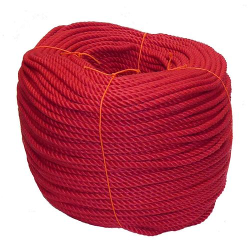 8mm Red PolyCotton Rope - 220m coil